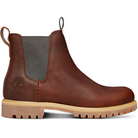 "Timberland Icon Collection Premium Chelsea Boots Men 6"" Medium Brown Full-Grain"